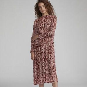 Rag & Bone Velvet Pink Gia Midi Dress